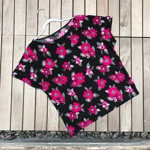 LAUREN x RALPH LAUREN Black Pink Short Sleeve Top